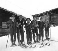 Schul-Skiausflug im März 1939 in die Nons