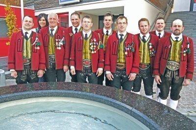 Der Ausschuss der Schützenkompanie Weerberg.