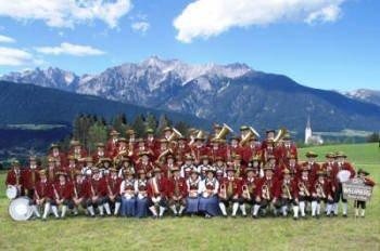Gruppenbild der Bundesmusikkapelle Weerberg